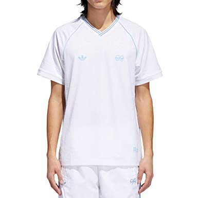 adidas x Krooked (White/Clear Blue) Jersey-Medium