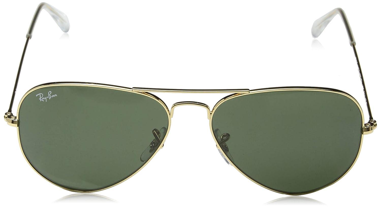 Ray-Ban Aviator Large Metal, Gafas de Sol Unisex Adulto, Dorado (Matte Gold), 58