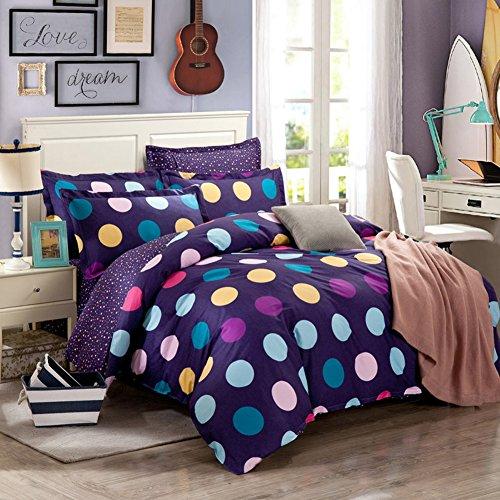TOP SHOP Home FTSUCQ Colorful Dot Linen Bed Sheets Quilt Covers Bed Mattress Bedding Four-PCS Sets,size-3 (Kidsline Sheet Top)