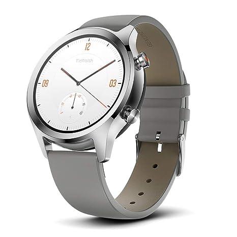 Ticwatch Reloj Inteligente y clásico Mobvoi C2 con Sistema operativo Wear OS de Google, IP68
