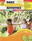 Daily Summer Activities Moving from Kindergarten to 1st Grade