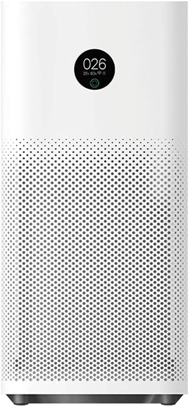 Xiaomi Mi Air Purifier 3H APP Control Light Sensor Multifunction Smart Air Cleaner Global Version, True HEPA Filter, 380 m³/h PM CADR, OLED Touch Screen Display - Mi Home App Works With Alexa - White