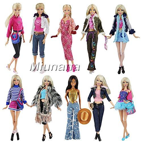 Miunana 3 Vêtements Pour Barbie de Livraison Aléatoire