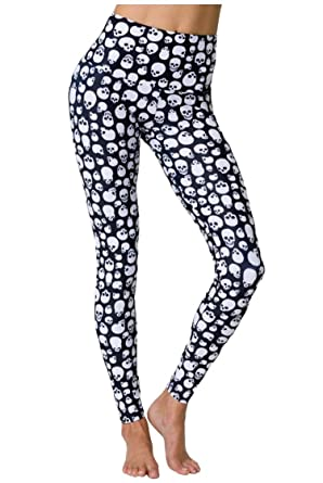 7663b85fc57bc Onzie High Rise Legging Skull Womens Active Workout Yoga Leggings at Amazon  Women's Clothing store: