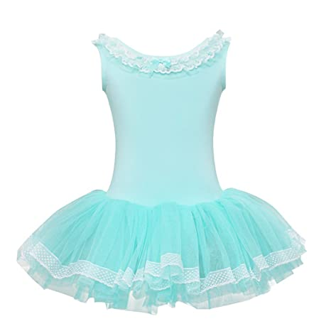 724a55f5f iEFiEL Kids Girls  Lace Neck Cutout Back Ballet Dance Skating ...