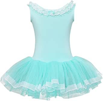 iiniim Big Girls' Ballet Dress Leotard Tutu Skirt Dancewear Skating Outfit