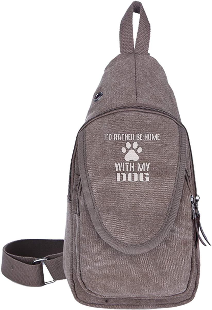 I'd Rather Be Home With My Dog Mens & Womens Unisex Travel Fashion Style Riding Shoulder Chest Bag 611uDe5vTbL