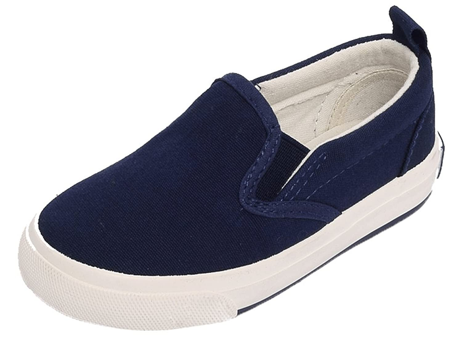 Pointss Unisex Child Pure Color Loafer Shoes Canvas Boat Shoes Boys' and Girls' Skate Shoes Skateboarding Sneakers Walking Shoes
