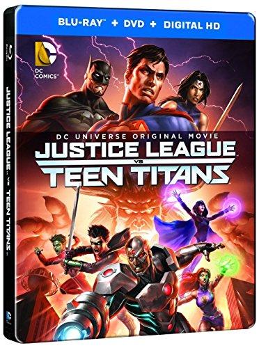 Justice League vs. Teen Titans Steelbook 2-Discs (Blu Ray + DVD + Digital HD)
