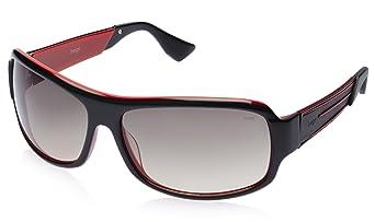 Image Rectangular Sunglasses (Black Red) (IMS327C1SG) <span at amazon
