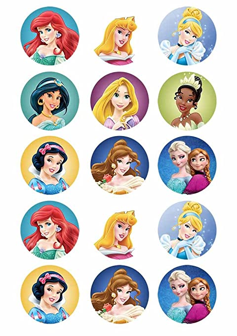 picture relating to Disney Princess Cupcake Toppers Free Printable named Disney Princess Put together Cupcake Toppers 15 x 2\