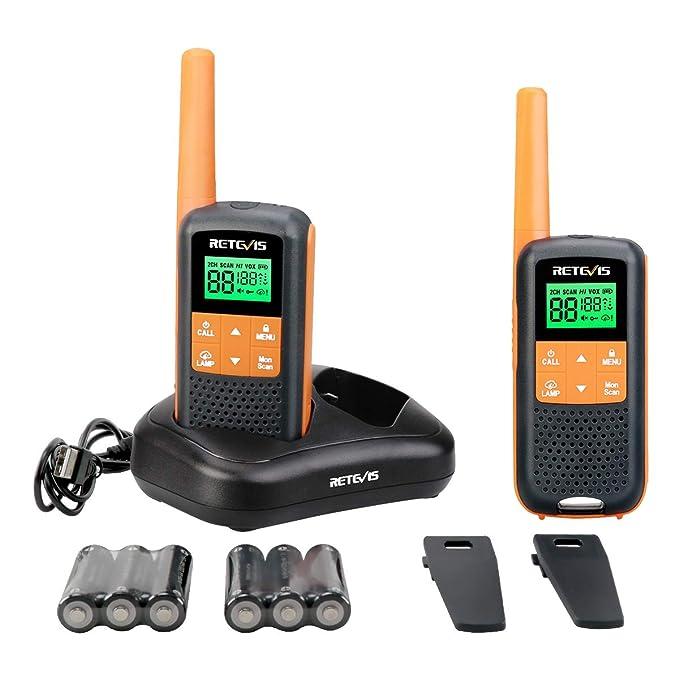 Retevis RT49 Two Way Radio Long Range Waterproof FRS 2 Way Radios Flashlight NOAA Weather Scan 121 Privacy Codes VOX Walkie Talkies for Adults(2 Pack)