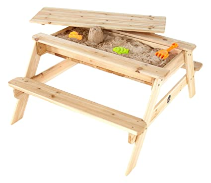 Amazon Com Plum Wooden Sand And Picnic Table Toys Games