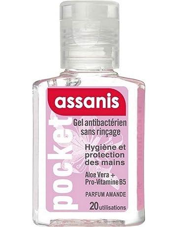 Assanis Pocket Gel Antibactérien Sans Rinçage pour les Mains 20 ml - Amande bd1f7409d3c