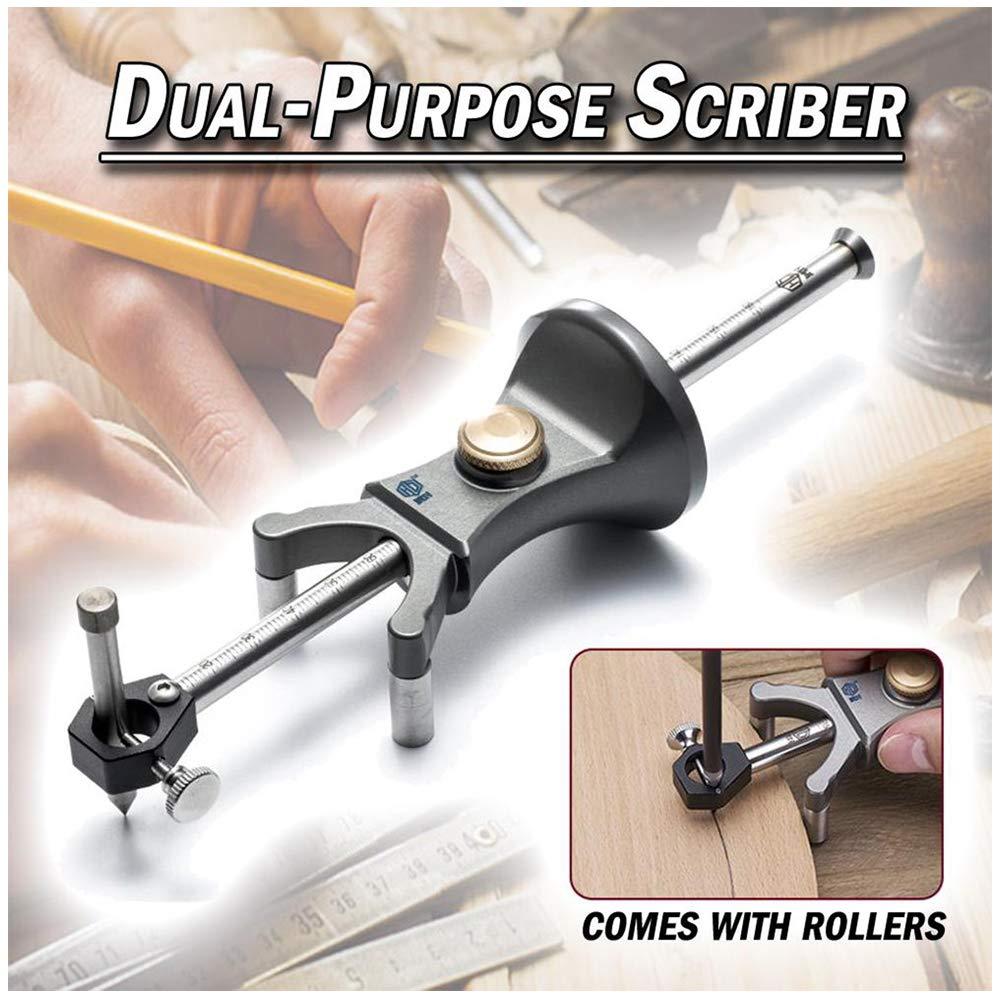 Wood Scriber Tool   Woodworking Linear Arc Dual-Purpose Wheel Marking Gauge   Multifunctional Sliding Mark Scraper Adjustable Precision Linear Drawing Tool (1PC Precision Dual-Purpose Scriber)