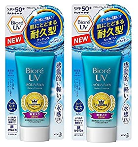Biore UV Aqua Rich Watery Essence 2017 SPF50+/PA++++ (Pack of 2)