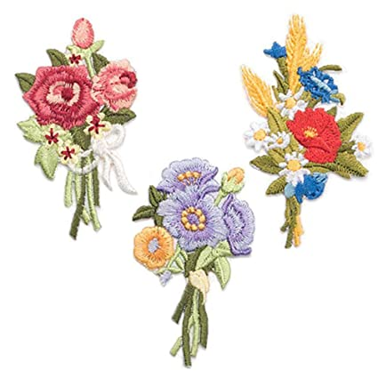 amazon com 3 pack delicate embroidered patches small bunch of rh amazon com small bunch of flowers brisbane small bunch of flowers 7 letters