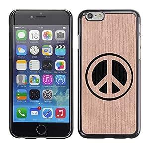 - / Peace Sign Minimalist Hippy - - Funda Delgada Cubierta Case Cover de Madera / FOR Apple iPhone 6 6S Plus 5.5 / Jordan Colourful Shop/