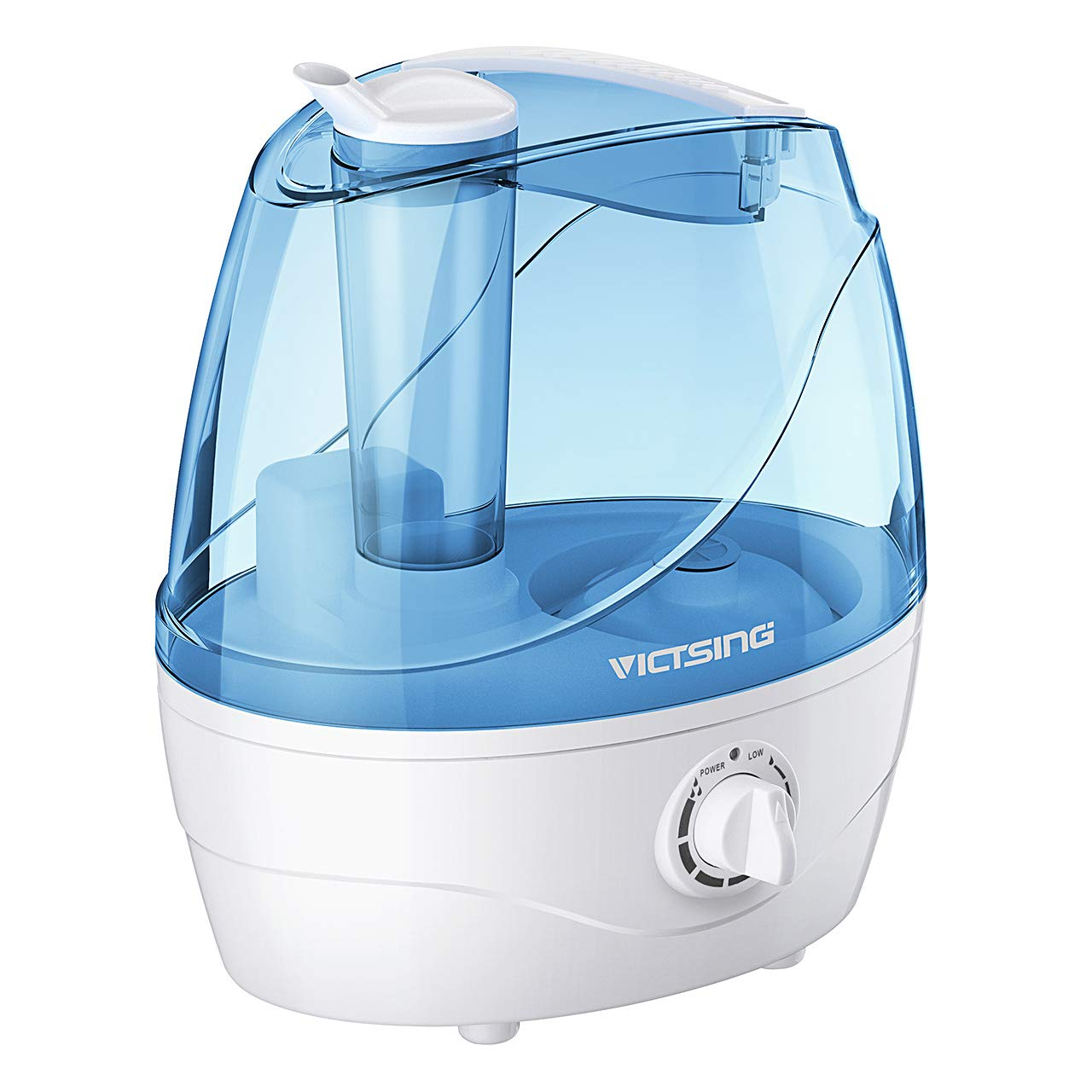 Homasy VicTsing 2.2L Cool Mist Humidifiers, Quiet Ultrasonic Humidifiers for Bedroom Baby, Easy to Clean Baby Humidifier, Last Up to 24 Hours, Auto Shut-Off, Anti-Slip Handle, Adjustable Mist Output by Homasy