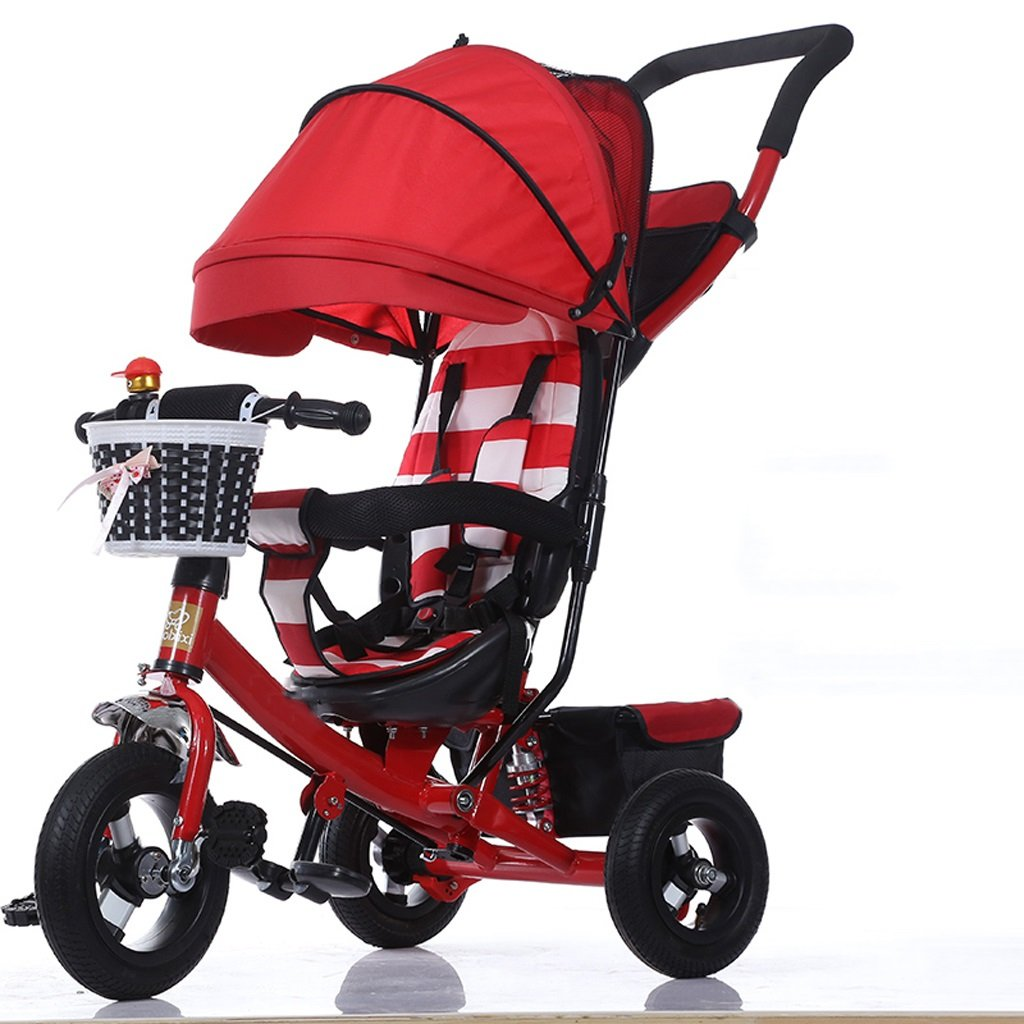 Strollers Baby Fashion with Sunshade Baby Stroller Folding Kids Tricycle 1-3-5 Year Old Children's Pedal Trike Bike Bicycle (Color : B)