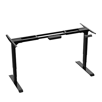 Aimezo Electric Stand Up Desk Frame W Dual Motor Height Adjustable