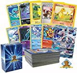 Pokemon 100 Card Lot Rares, Foils Features 1 GX Plus Evolutionary Set No Duplication By Golden Groundhog