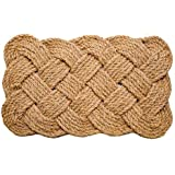 "Iron Gate Coir Rope 18""x30"" Interwoven Design Doormat 100% Natural Fibers- 2 Pack"