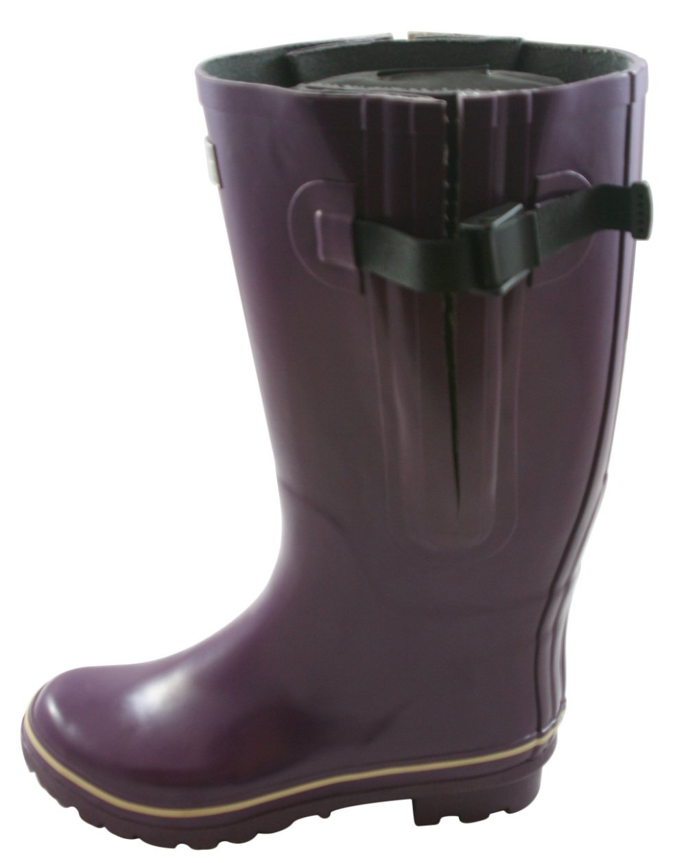 Jileon Extra Wide Calf Rubber Rain Boots for Women-Widest Fit Boots in The US-up to 21 inch Calves-Wide in The Foot and Ankle B00OCV4X6A 6 E (Extra Wide) US Purple
