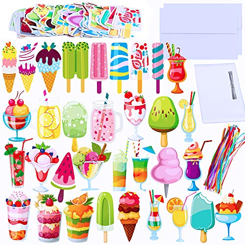 - Supla 62 Sets Summer Bookmarks Bulk Double-Sided Cute Colorful Bookmarks Assorted Cold Drink Dessert and Ice Cream Cutouts Die Cut Stationery for Kids Students Teachers Rewards Party Favors Book Lover