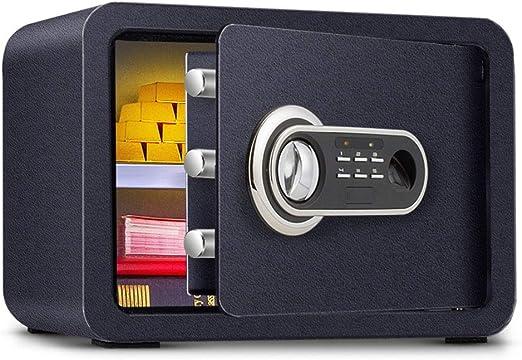 Caja fuerte Huella Digital Segura Inteligente Digital Oficina pequeña Seguridad Efectivo Caja de Seguridad, prevención de Incendios (Color : Black, Size : 35 * 25 * 25cm): Amazon.es: Hogar