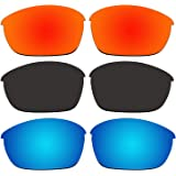 ACOMPATIBLE 3 Pair Replacement Polarized Lenses for Oakley Half Jacket 2.0 Sunglasses Pack P2