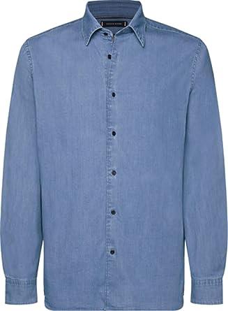 Tommy Hilfiger Flex Denim - Camisa para hombre: Amazon.es: Ropa y accesorios