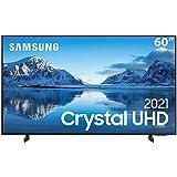 """Samsung Smart TV 60"""" Crystal UHD 4K 60AU8000, Painel Dynamic Crystal Color, Design slim, Tela sem limites, Visual Livre de Ca"""