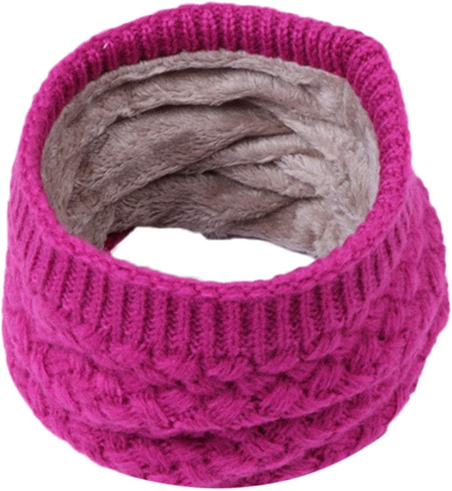 Amaone Kids Warmer Snood Collar Scarf 3-15 Years Old Warm Knitted Solid Color Unisex Baby Cute O Ring Collar Neckerchiefs
