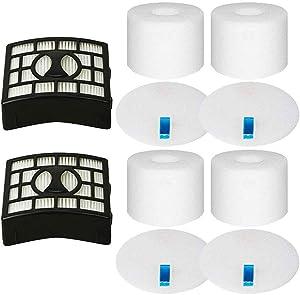 Eztronics CorpReplacement Filter for Shark Rotator DuoClean Powered Lift Away Speed Vacuum NV680, NV681, NV682, NV683, NV800, NV801, NV803, UV810, 2 HEPA + 4 Foam & Felt Filters, Replace Part XFF680