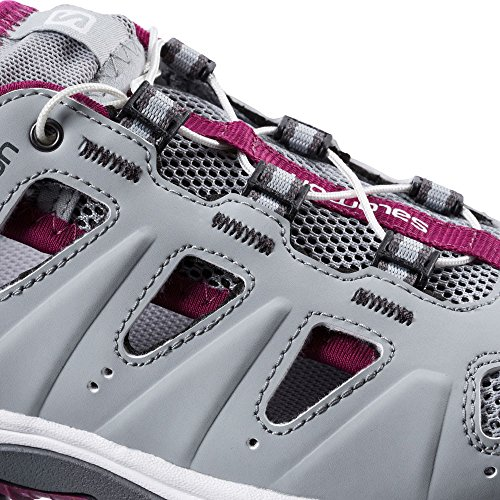 Salomon Vrouwen Ellips Cabrio Outdoor Sandaal Light Onix / White / Mystic Purple