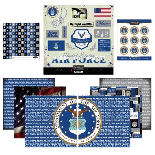 Scrapbook Customs Themed Paper and Stickers Scrapbook Kit, Air force
