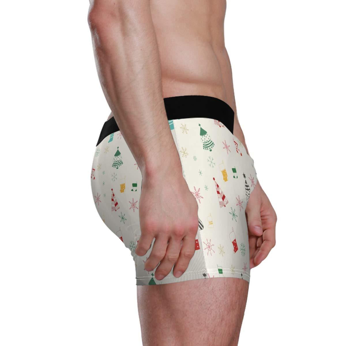 UNISE Christmas Tree Hanes Boxer Briefs Comfortable Briefs Soft Boyshorts Underwear for Men Pack