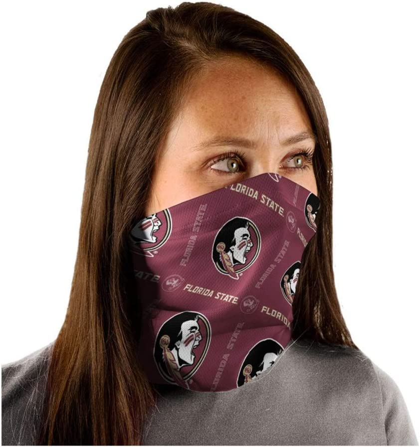 WinCraft NCAA Florida State University FSU Seminoles Text/Logo Fan Wrap Gaiter Mask Headwear