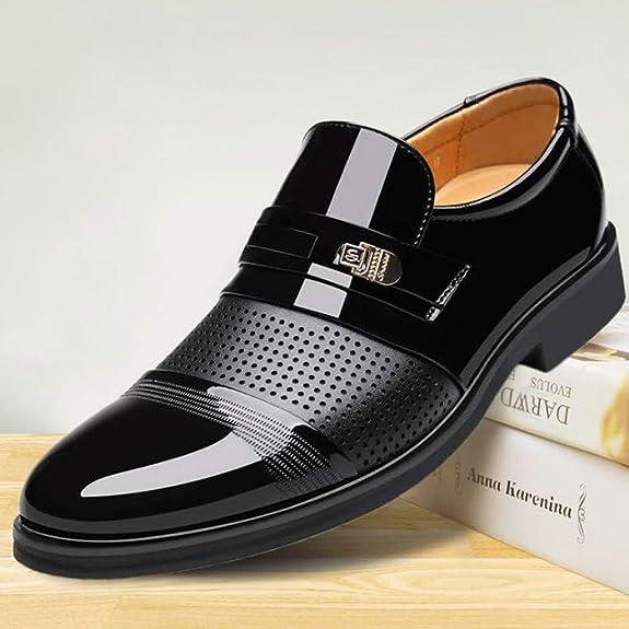 Zzzz Best-Choise NU042 - Zapatos Formales de Piel con Cordones de ...