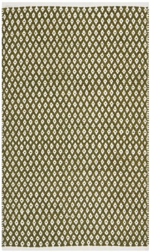 Safavieh Boston Collection BOS685B Handmade Olive Cotton Area Rug (2'6