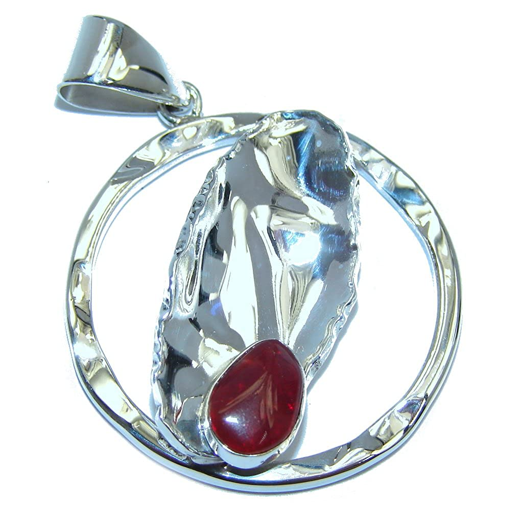 Mexican Fire Opal Women 925 Sterling Silver Pendant FREE GIFT BOX