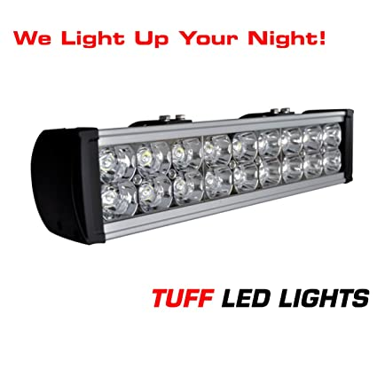 amazon com tuff led lights 15 inch super led light bar 54 watt rh amazon com