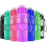 Borraccia Sportiva per Bambini/Adulti - a Tenuta stagna, Coperchio Flip Top, Senza BPA