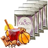 Mulling Spices Instant Gourmet Mix | Crown Mulling for Apple Cider Wine Juice Tea Cake Bread Cookies | Free Recipe Booklet Included | Thanksgiving Stocking Stuffers Christmas Gift 6 Oz (FourPack)