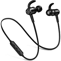 Picun Bluetooth Headphones Wireless, IPX6 Waterproof 10 Hrs Playtime Lightweight In Ear Running Headphones with Mic for TV/PC/Cell Phones, Magnetic Earphones for Sports, Wireless Headphones (Black)