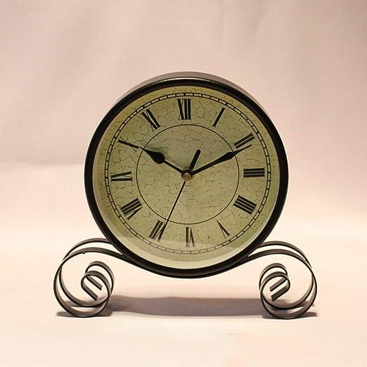 Tangxiaonei Reloj de Escritorio clásico Reloj de Mesa de Hierro ...