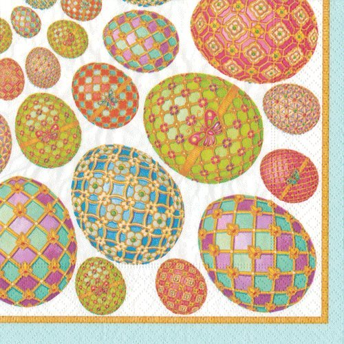 Easter Decorations Easter Egg Hunt Paper Napkins Beverage Imperial Eggs Pk 40