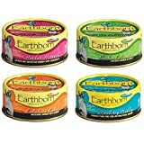 Earthborn Holistic Wet Cat Food Variety Pack - 4 Flavors (Catalina Catch, Harbor Harvest, Chicken Catcciatori, and Monterey Medley) - 5.5 Ounces Each (12 Total Cans) Larger Image