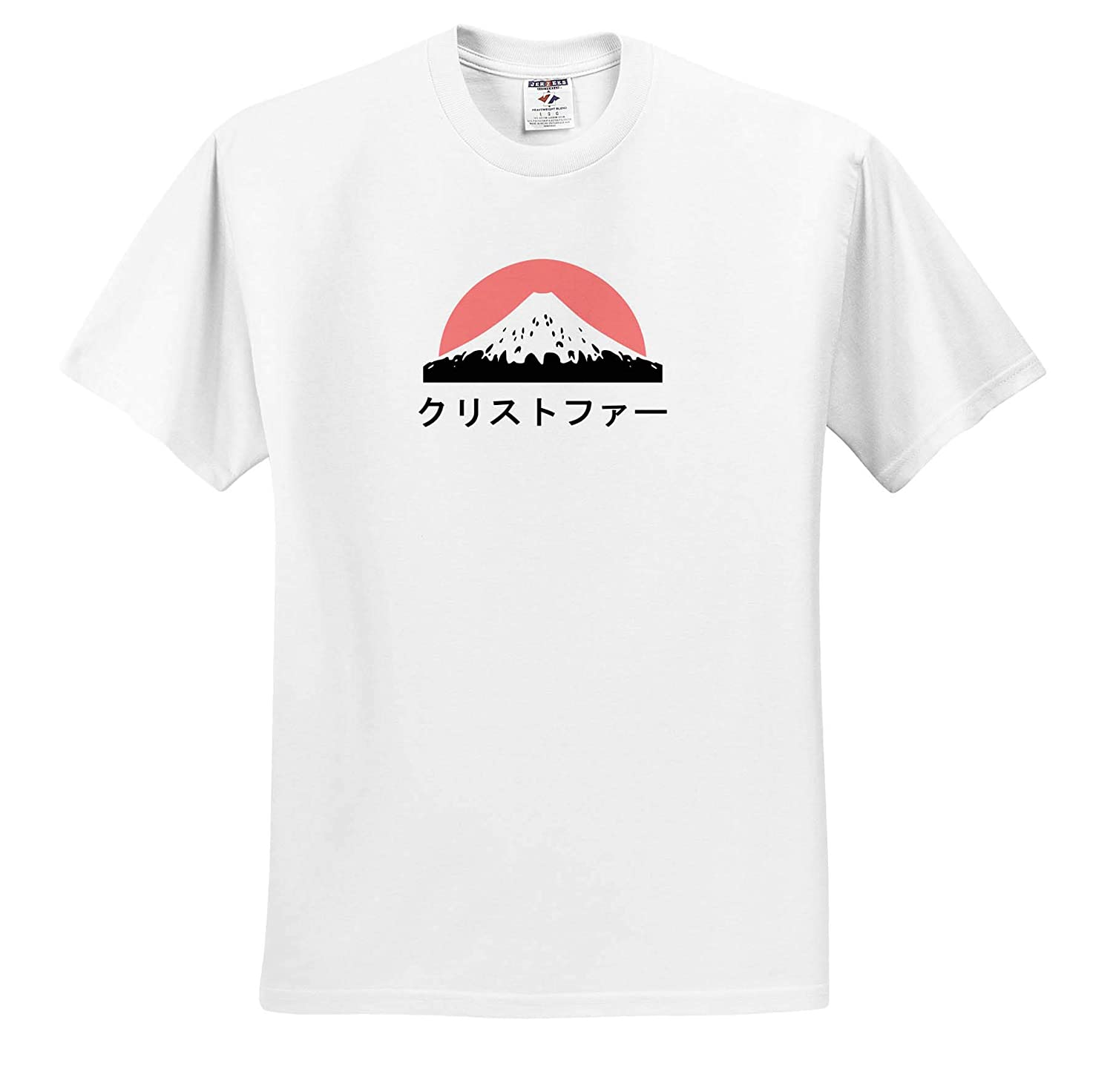 Christopher in Japanese Letters Adult T-Shirt XL ts/_320458 Name in Japanese 3dRose InspirationzStore